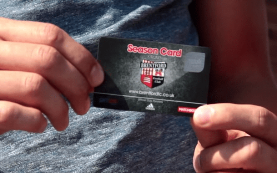 Brentford Football Club Season Card