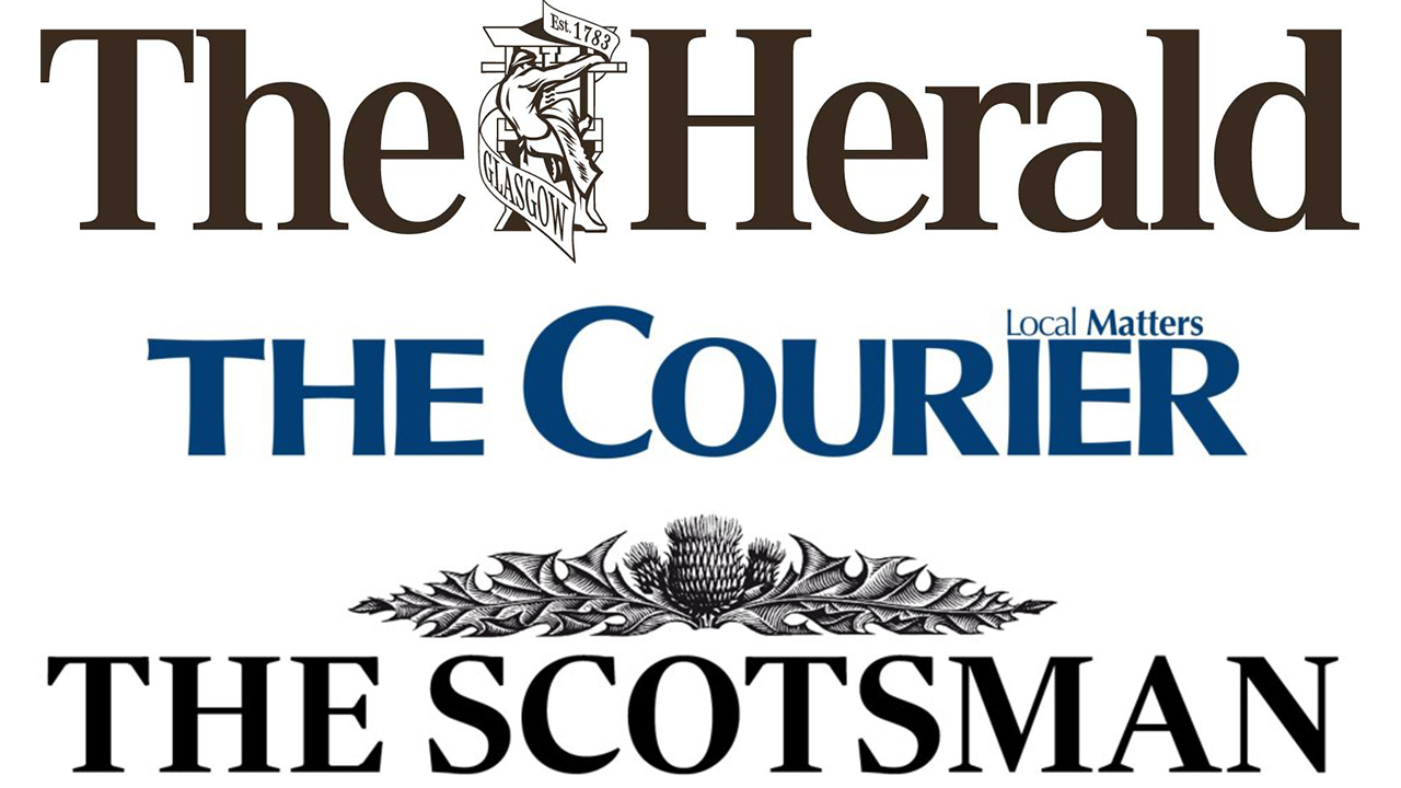 The Herals, Scotsman, and Courier logos