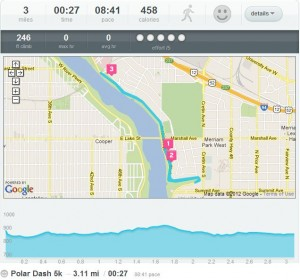 course and elevation