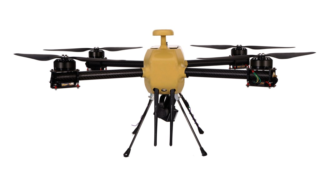 DH-Q4 NPNT compliant drone by team Dhaksha