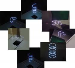 3d display made with lasers
