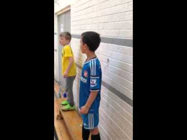 Mini Grassroots Managers. Watch how these 2 mini managers coach there teams.