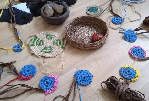 Tea and weaving