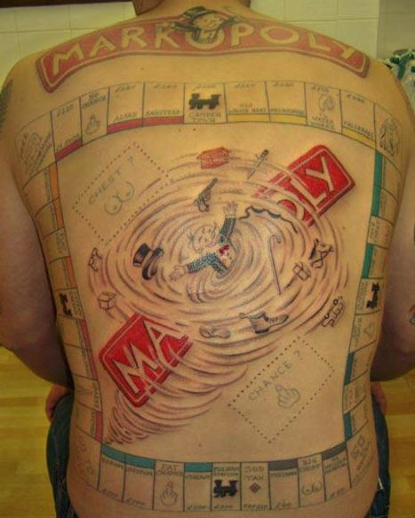 Gangster Monopoly Man Tattoo : gangster, monopoly, tattoo, Monopoly, Tattoo, DesaignHandbags