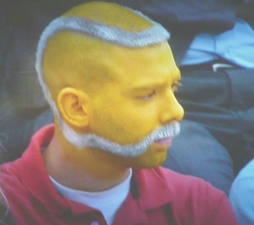 Haircut that looks like a baseball, funny mustaches, Funny Haircuts, Bad Hair styles, worst hair, fashion fails, Funny pictures,