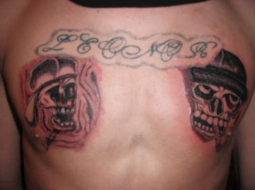 Skull Tattoos Worst Tattoos Ever, Funny Tattoos, Funny Pictures Ugliest Tattoos, Horrible, Stupid Tattoos