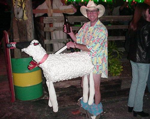 Montana Sheep Man ~Worst Halloween Costumes: 23 Bad, Stupid & Tasteless