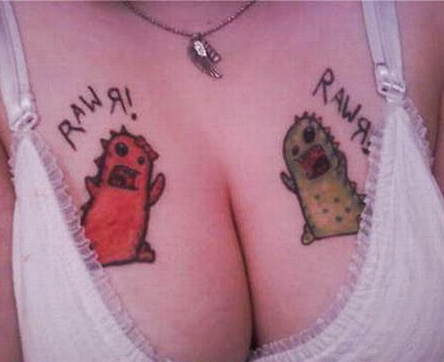breast boob tattoos worst tattoos ever , horrible tattoos, ugliest tattoos, ugly stupid people funny pictures, funny russian pictures fotos worst tattoo pics pictures wtf tattoos fail awkward family photos tit tats