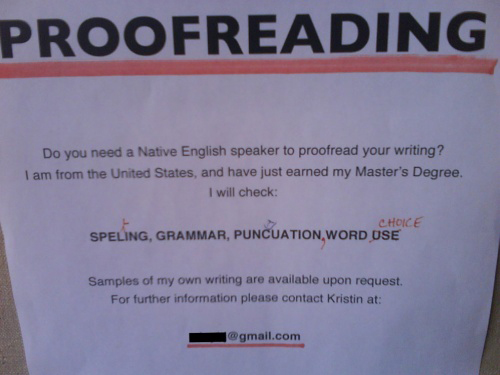 Misspelled proofreading sign Funny pictures, funny people, awkward family photos, stupid people worst bad tattoos, crazy horrible weird strange wtf photobombs fail funny signs