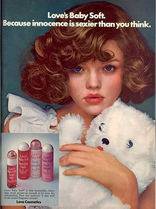Love's Baby Soft Innocence is sexier than you think most sexist advertising extremely sexism sexist print ads of the 40s 50s 60s 70s 50s Housewives chauvinism chauvinistic advertisements mad men don worst funny draper