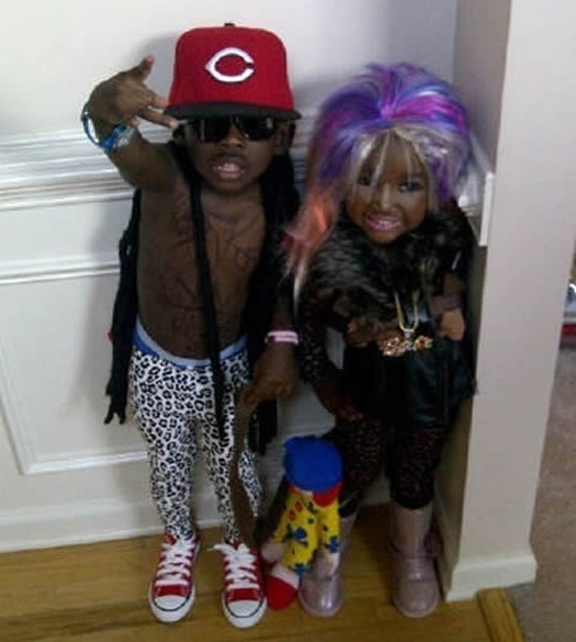 Kids Lil Wayne Nicki Minaj Worst Halloween Costume Bad Halloween Costumes for kids for adults inappropriate wtf worst tattoos bad tattoos awkward family photos funny costumes funny halloween family