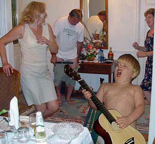 Boy Rocking With Guitar Bad Family Photos Worst Awkward Family Photos Stupid Crazy Funny Family Weird Worst tattoos Pictures