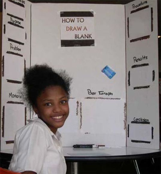 Draw a Blank ~ 36 Funny School Science Fair Projects!