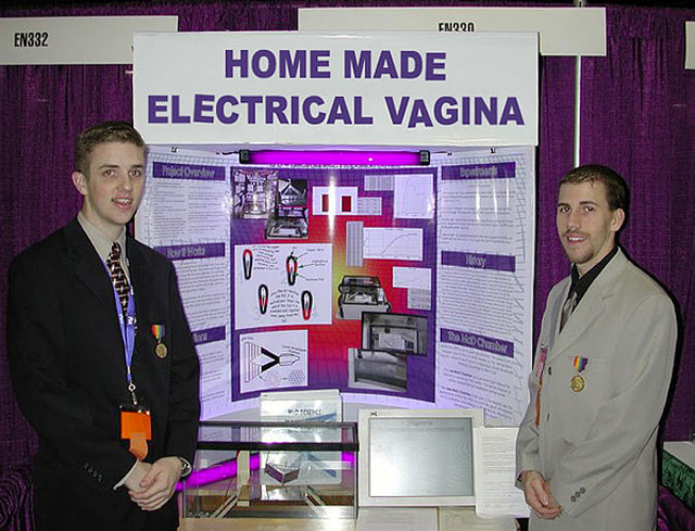Homemade electrical vagina ~ 36 Funny School Science Fair Projects!