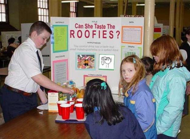 Roofies ~ 36 Funny School Science Fair Projects!