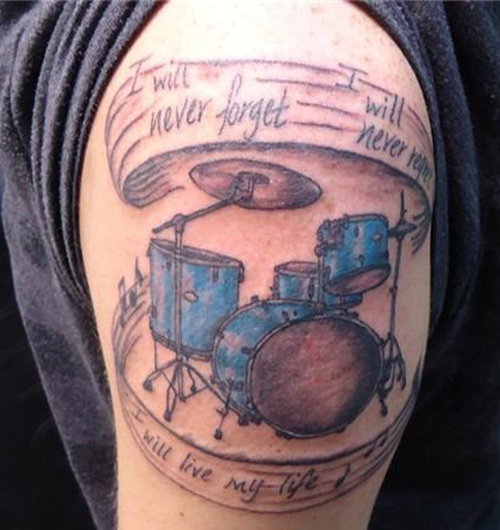 Drumset Bad Tattoos America's Worst Tattoos Regrettable Horrible Awkward Stupid People Regrets Misspelled Nasty Tats WTF Funny