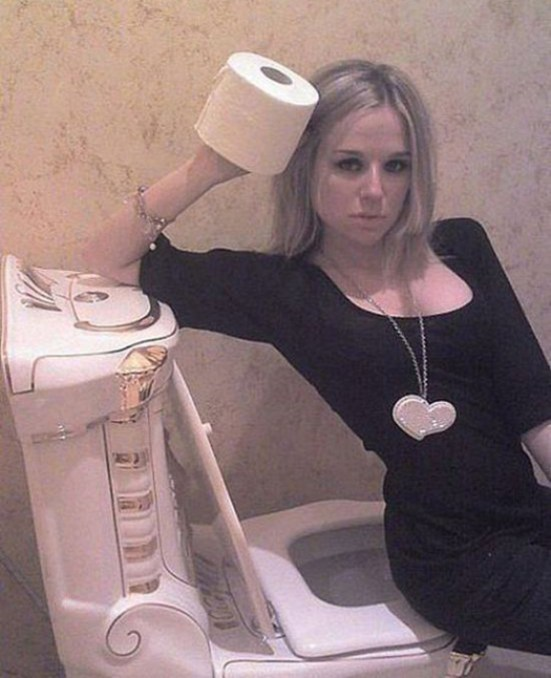 Girl Posing on Toilet ~ 34 Failed Attempts at Looking Sexy