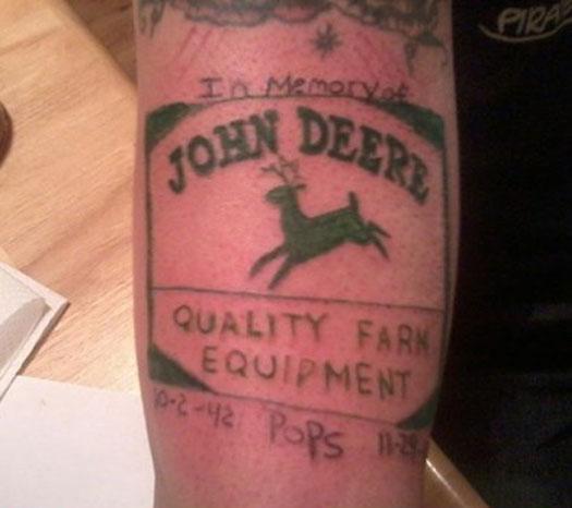 John Deere – Bad Tattoos Worst Tattoos Regrettable Ugliest Tats WTF Funny