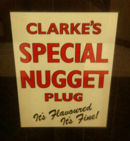 Clark's Special Nugget Plug - Funny Signs