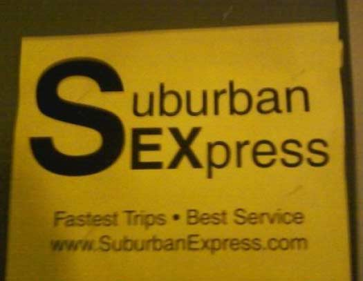 Suburban Sexpress - Funny Signs