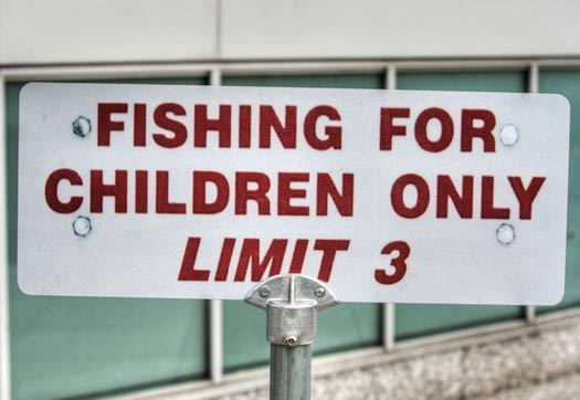 Fishing for Children - Funny Signs