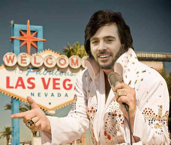 Funny Pictures of Jimmie Johnson Elvis – Kobalt Tools 400 Las Vegas NASCAR Pictures Driver Photos