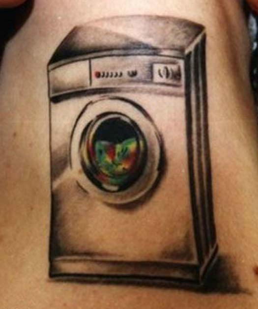 Washing Macine – Bad Tattoos Worst Tattoos Regrettable Ugliest Tats WTF Funny