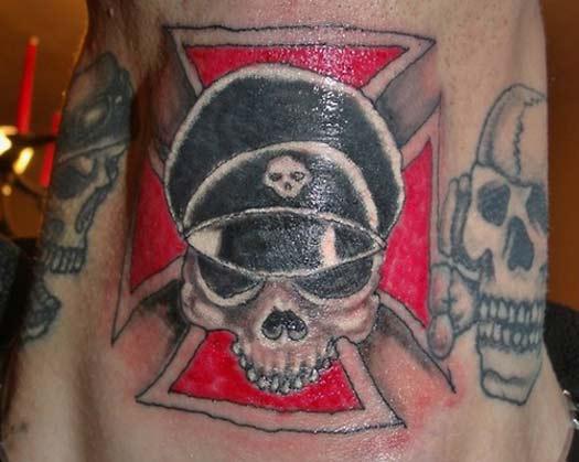 Nazi SS Skull – Bad Tattoos Worst Tattoos Regrettable Ugliest Tats WTF Funny