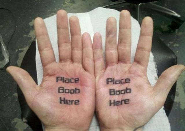 Pace Boobs Here – Bad Tattoos Worst Tattoos Regrettable Ugliest Tats WTF Funny