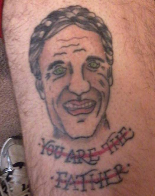Maury Povich You are the father – The Worst Bad Tattoos, The Ugliest Regrets, too.