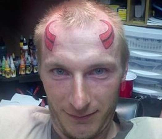 Oh, you Devil, you! – The Worst Bad Tattoos, The Ugliest Regrets, too.