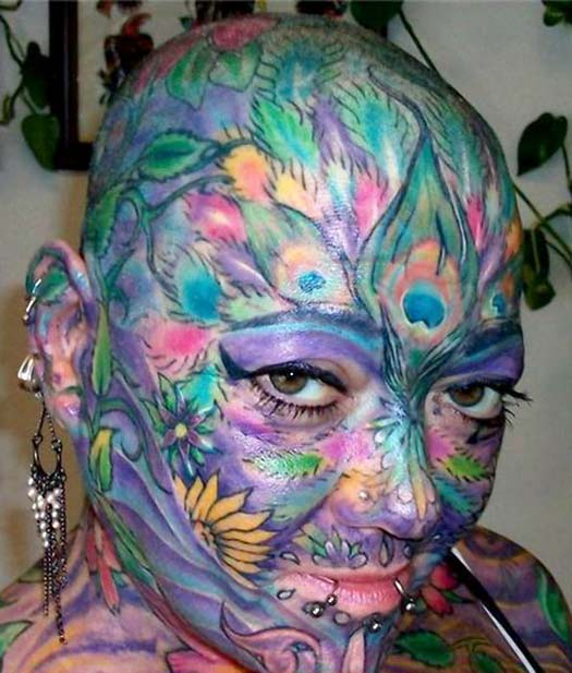 Full Face Tattoo - – The Worst Bad Tattoos, The Ugliest Regrets, too.
