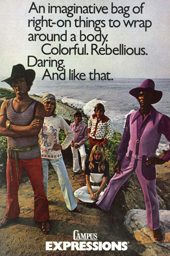 Campus Expressions ~ 35 Bitchin' 1970s Mens Fashions