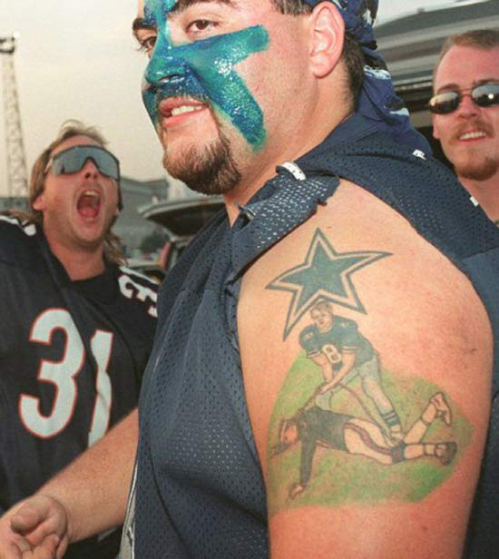 Dallas Cowboys Aikman ~ 24 of the Worst NFL Fan Tattoos