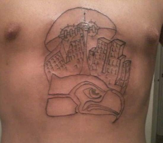 Seattle Seahawks ~ 24 of the Worst NFL Fan Tattoos