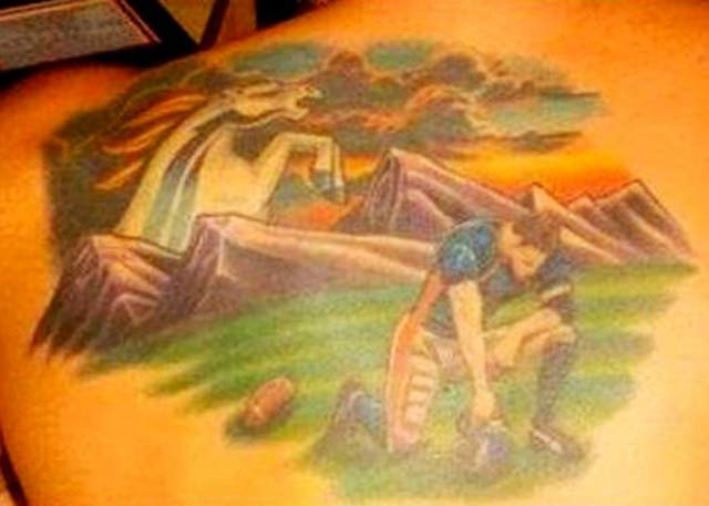 Tim Tebow Mural ~ 24 of the Worst NFL Fan Tattoos