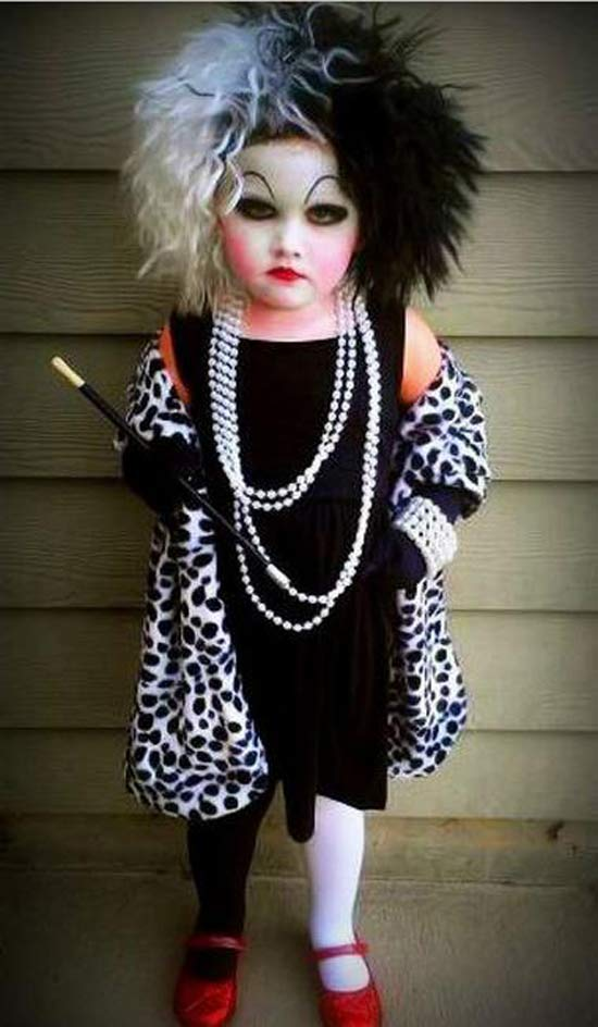 Cruella Deville ~ 30 of the Best Kids Halloween Costumes