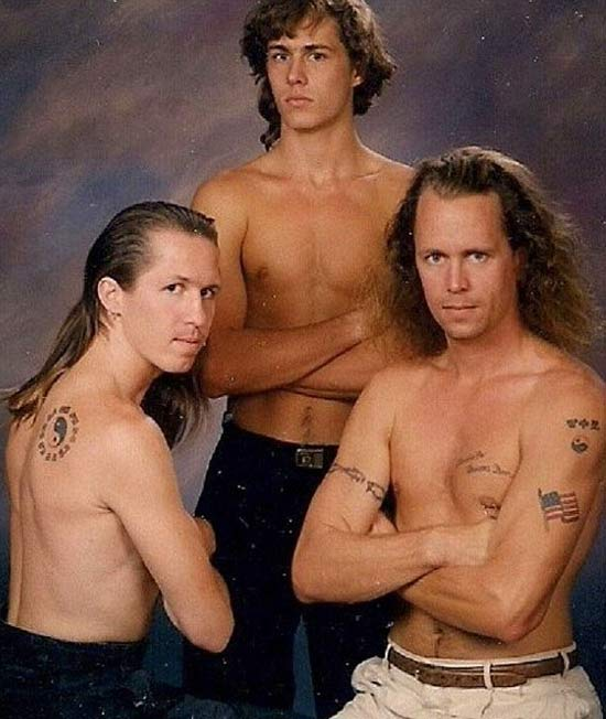 Muscles & Mullets ~ 15 Funny Family Photos