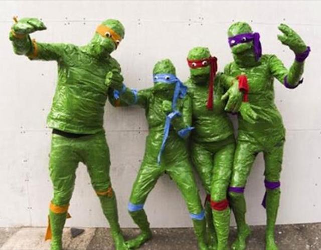 Ninja Turtles ~ 25 Bad to Tasteless Halloween Costumes