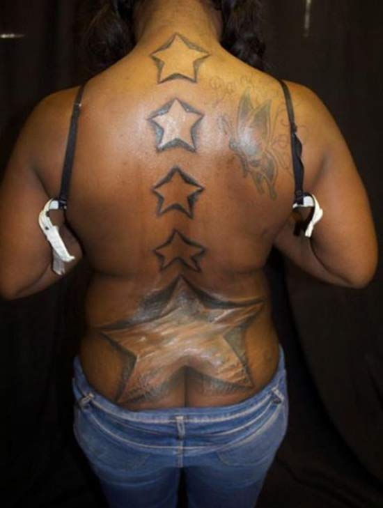 Back Stars ~ 15 of the Worst Tattoos