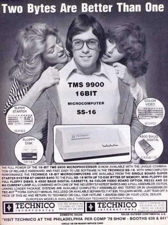 Two Bytes Vintage Computer ad ~ 16 Funny Pics Memes