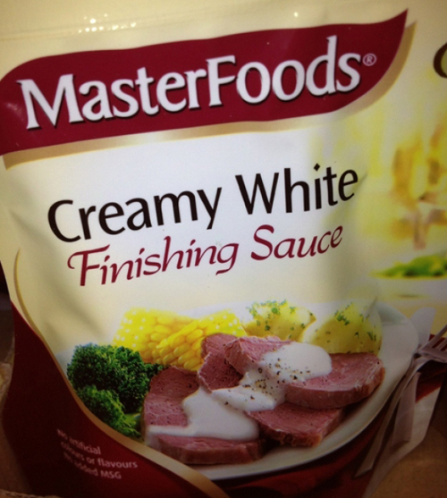 Creamy White Finishing Sauce ~ 27 Inappropriate, Funny Product Names