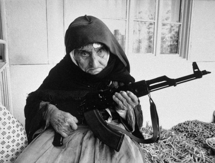 106-year-old Armenian woman guarding her home ~ 28 Historical Must See Photos