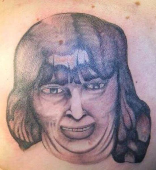 Bad Woman Portrait ~ 14 of the Worst Tattoos