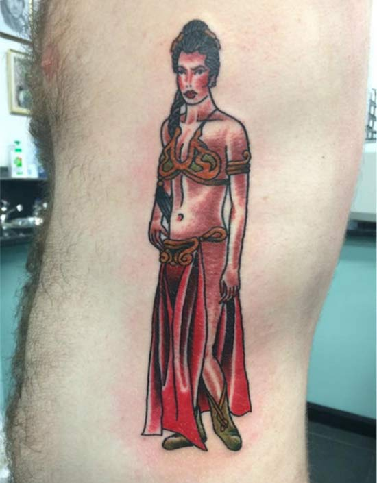 Princess Leia Star Wars ~ 14 of the Worst Bad Tattoos