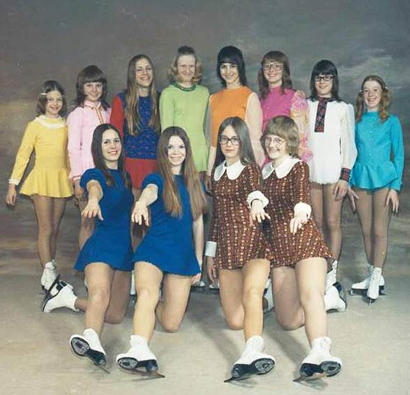 Awkward 1970's Girls Figure Skaters ~ 16 Funny Family Photos