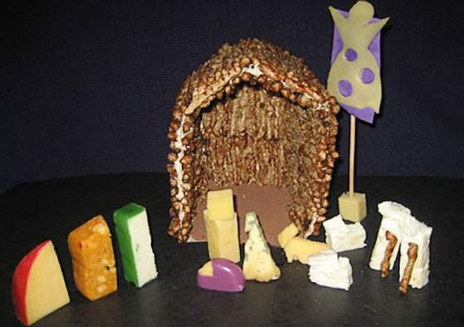 Nativity Scene made from cheese