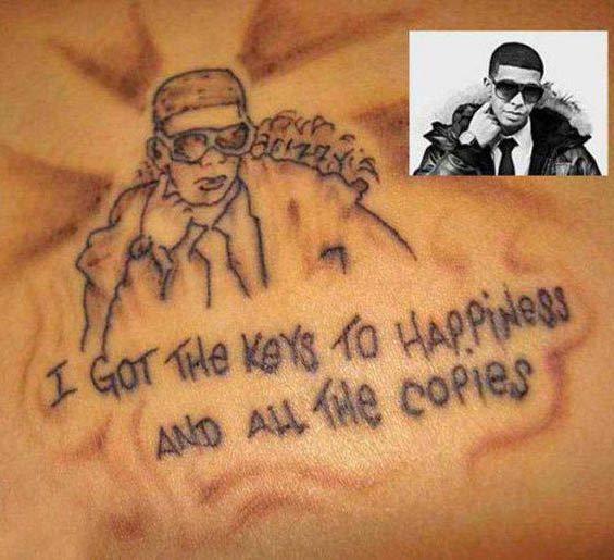 Keys o Happiness ~ Drake Lyrics ~ 15 of the Worst Bad Tattoos