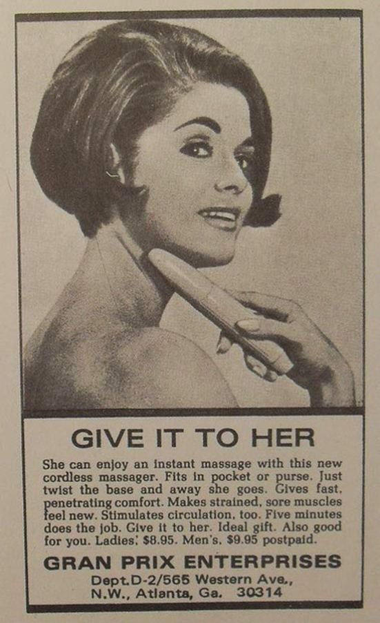 Vintage Vibrator Ad ~ Give It To Her