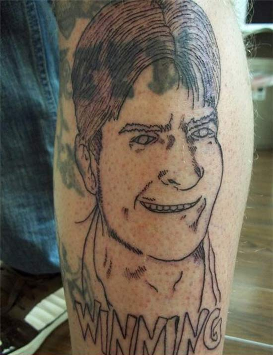 Charlie Sheen Winning ~ 16 of the Worst Bad Tattoos
